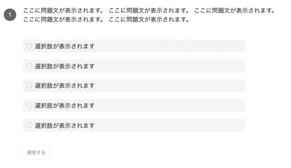 GAIQ試験問題画面